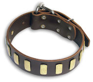 GENUINE LEATHER DOG COLLAR 1 1/2'' wide for all dogs
