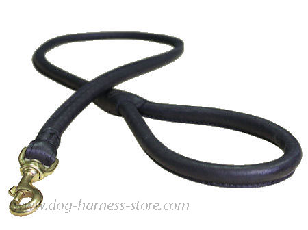 Matching Rolled Leather Dog Lead for police dogs