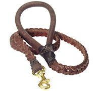 Braided Leather Dog Leash -Braided Lead walking dogs
