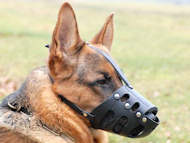 Leather dog muzzle for dog - k9 dog muzzle
