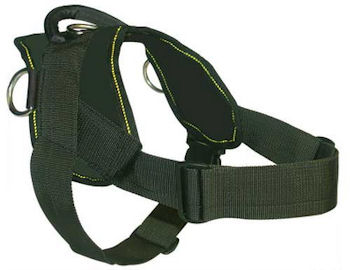 Nylon dog harness with handle