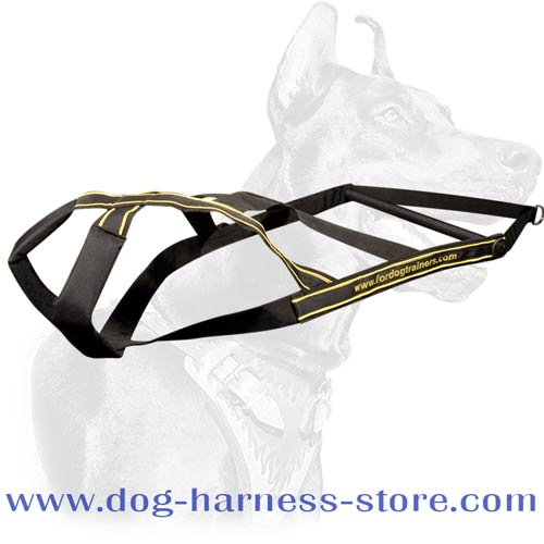 Pulling and Heavy Freighting Dog Harness for All Breeds Made of Nylon