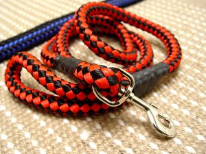 Cord nylon dog leash for large dogs- dog lead for walking