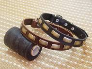 Leather Special Dog Collar With Plates