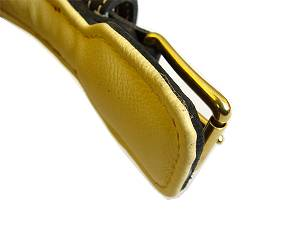 padded leather dog collar dog