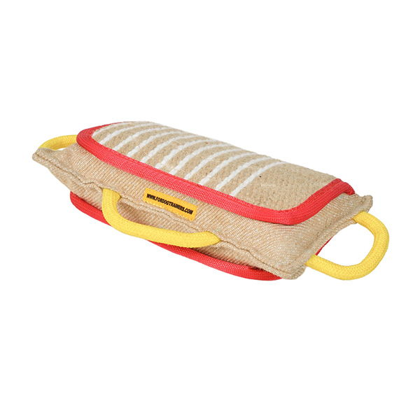 Dog training jute bite pad