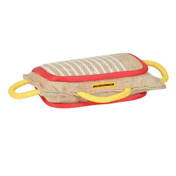 Durable natural jute bite pad for dog training
