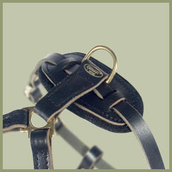 Medium Tracking Leather Dog Harness-Pulling Medium Dog Harness